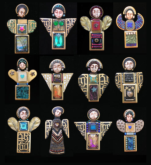 Angel Icon Pins